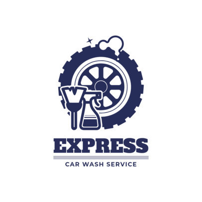 Express Car Wash Logo Maker 1753