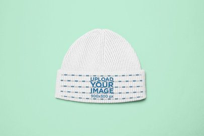 Mockup of a Beanie on a Flat Surface 24589