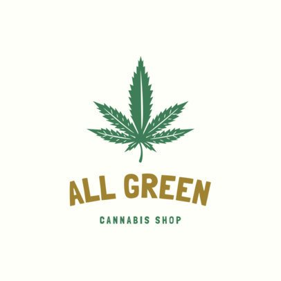 Weed Logo Maker for a Cannabis Shop 1778b