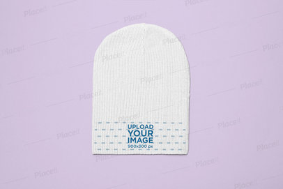 Mockup of a Knit Beanie with a Solid Background 24590