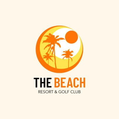 Beach Club & Resort Logo Maker 1762