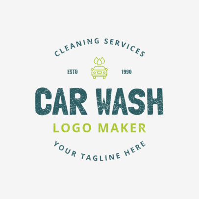 Car Wash Logo Maker for a Car Cleaning Service 1756