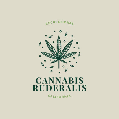Cannabis Logo Maker with Weed Clipart 1779a