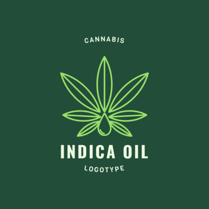 Medical Marijuana Logo Maker with a Cannabis Indica Graphic 1779e