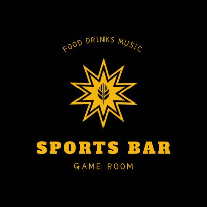 Bar Logo Maker for a Sports Bar with a Wheat Icon 1684