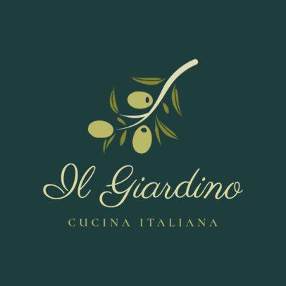 Italian Food Logo Maker for an Italian Kitchen Restaurant 1663a