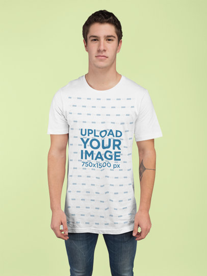 T-Shirt Mockup of a Man at a Studio 25281