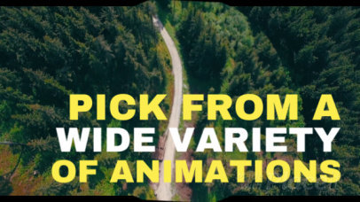Animated Slideshow Maker with Landscape Backgrounds