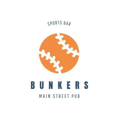 Sports Bar Logo Maker with Baseball Graphics 1684c