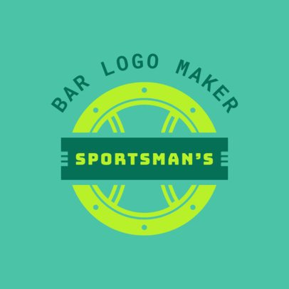 Sports Bar Logo Maker with a Circular Design 1685c