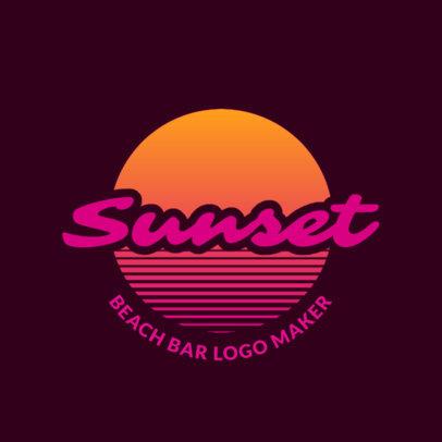 Bar Logo Maker For a Beach Bar Club 1759