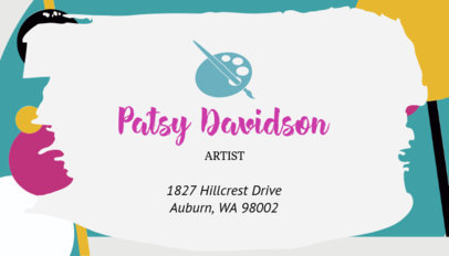 Business Card Maker with Paint Strokes 128a