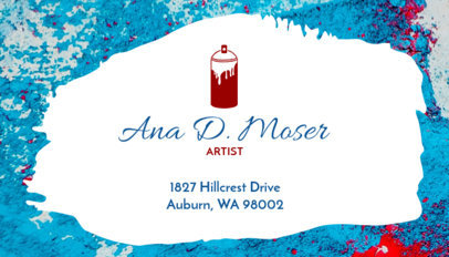 Business Card Maker with Graffiti Theme 128b