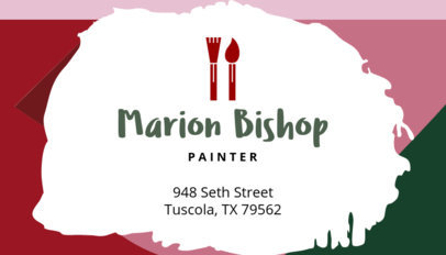 Business Card Maker for Painters 128d