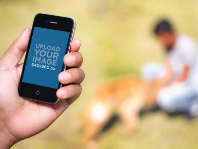 Man iPhone 4 Dog Park