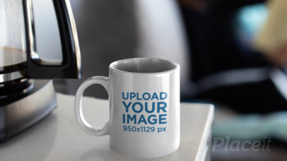Parallax Video Mockup Featuring a Coffee Mug on a Table 25648