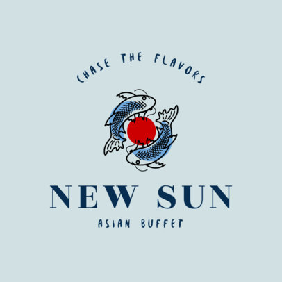 Chinese Restaurant Logo Maker for an Asian Buffet 1672e