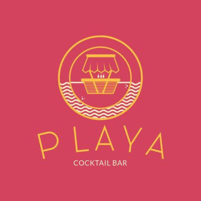 Beach Club Logo maker for Cocktail Bars 1760d