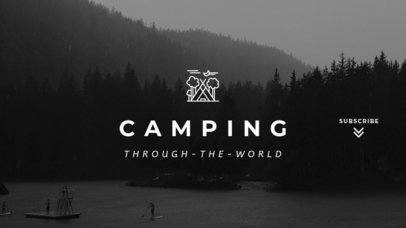 YouTube Banner Maker for a Camping Channel 1079a-1819