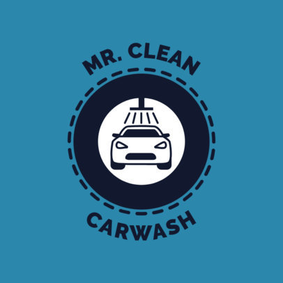 Car Wash Logo Maker with Modern Badge 1754b