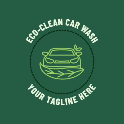 Car Wash Logo Maker for a Green Car Wash 1754e