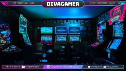 Cool Twitch Overlay Maker with Neon Banners 1069