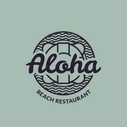 Bar Logo Maker with Hawaiian Beach Style Assets 1759d