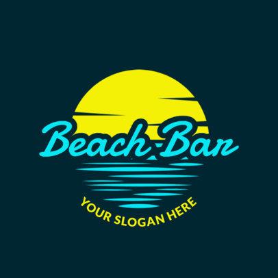 Bar Logo Maker for a Beach Club with Sunny Skies Clip-Art 1759b