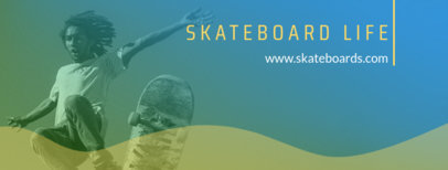 Facebook Cover Template for a Skateboard Page 1086a