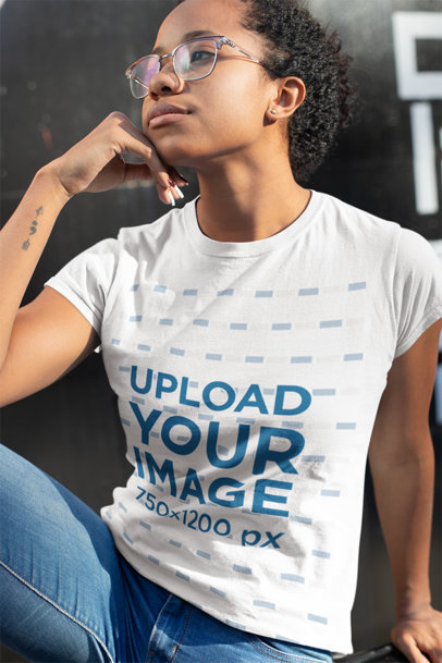 T-Shirt Mockups at an Urban Scenery
