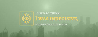 Facebook Cover Maker for a Motivational Quote 1081a