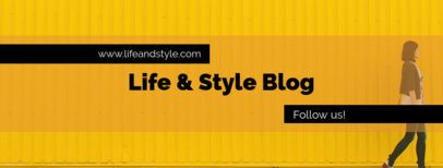 Facebook Cover Template for Lifestyle Blogs 1085b