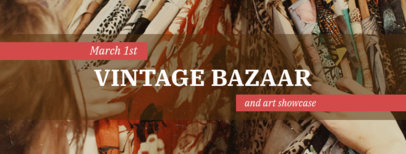 Vintage Facebook Cover Maker for Bazaars 1085c