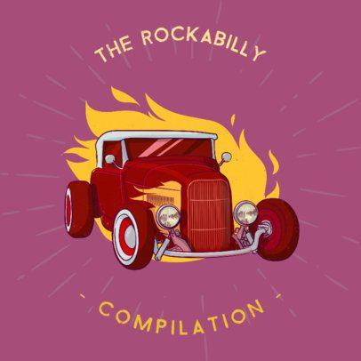 Album Cover Maker for a Rockabilly Compilation Album 478b