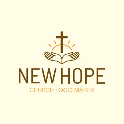 Church Logo Maker Featuring Faith Symbols 1770a