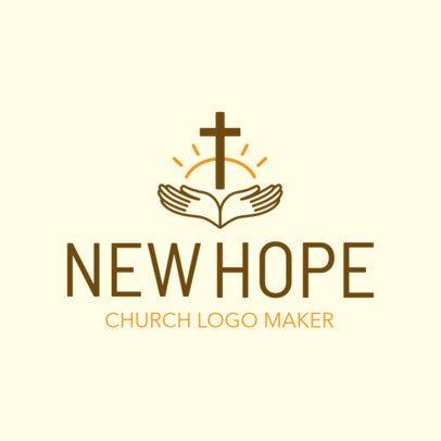 Church Logo Maker Featuring Faith Symbols 1770a