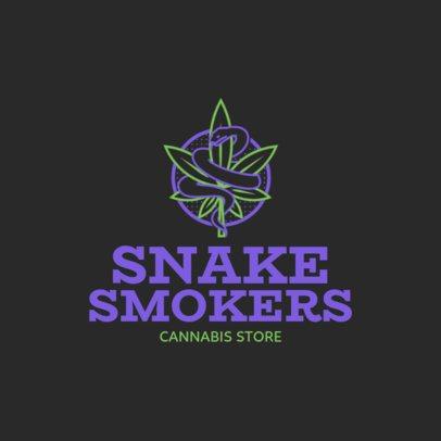 Medical Marijuana Logo Maker with Weed Caduceus Clipart 1781a