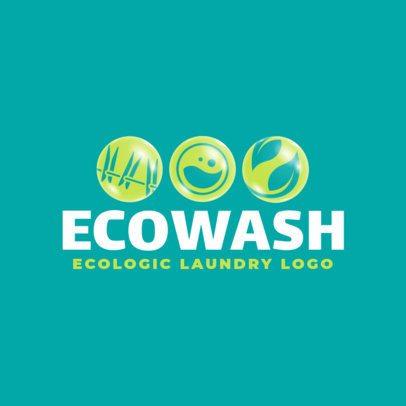 Eco Wash Logo Maker for an Ecologic Laundry 1773b