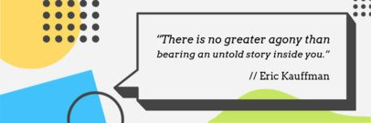 Twitter Header Maker with Quote in a Text Bubble 1091a