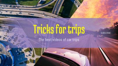 YouTube Banner Design Template for Car Vloggers 1073e