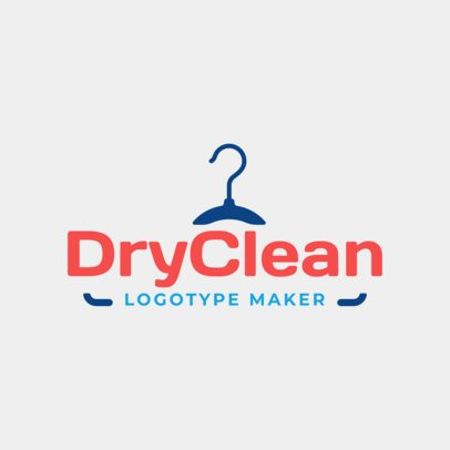 Minimalistic Dry Cleaner Logo Maker 1774