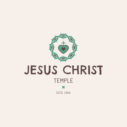Logo Maker for a Church or Worship Temple 1772c