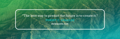 Twitter Header Generator for Quotes with Simple Frame 1094a
