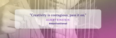 Twitter Header Maker for an Inspirational Quote 1094c