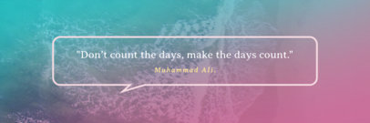 Inspirational Quote Twitter Header Template with Gradient Background 1094d