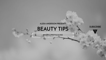 YouTube Banner Template for a Beauty Tips Channel 1087a