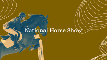 YouTube Banner Maker for an Equestrian Channel 1074a