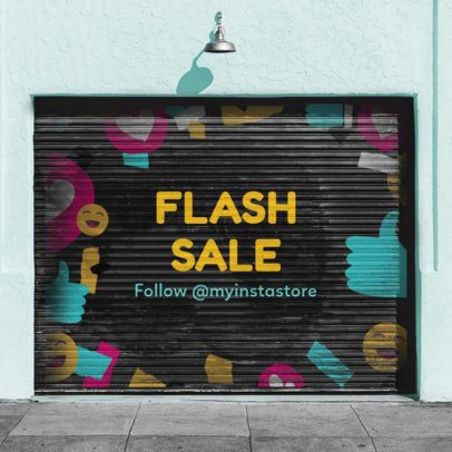 Cool Instagram Post Maker for a Flash Sale Announcement 1097b