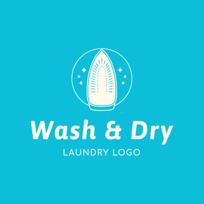 Laundry Service Logo Maker with Iron Graphics 1777c