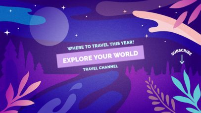 YouTube Banner Maker for a Traveling Channel 1077c